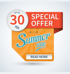 Summer sale banner special offer template vector