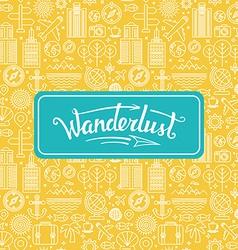 Wanderlust logo vector