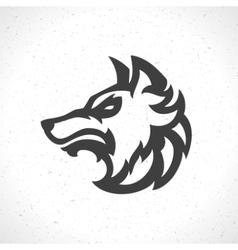 Wolf face logo emblem template mascot symbol vector