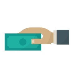 Human hand with money icon vector