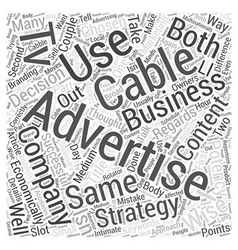 Cable tv advertising with a difference word cloud vector