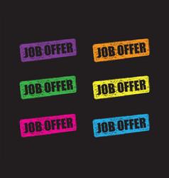 Job offer set vector
