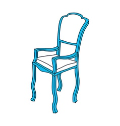 A chair is placed vector