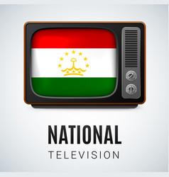 round glossy icon of tajikistan vector image