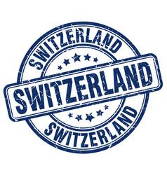 Switzerland blue grunge round vintage rubber stamp vector