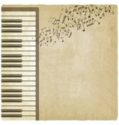 Vintage background with piano vector