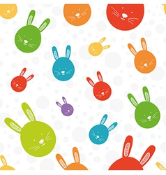 Funny bunny seamless colorful pattern vector
