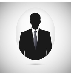 Male person silhouette profile picture whith tie vector