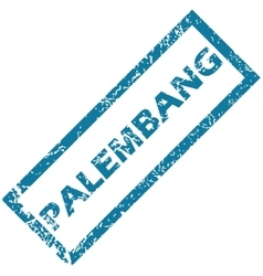 Palembang rubber stamp vector