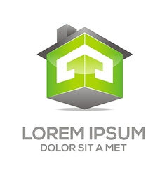 Logo texture house real estate vector