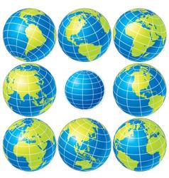 Vector globes set vector