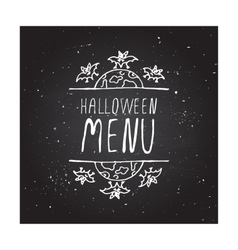 Halloween menu - typographic element vector