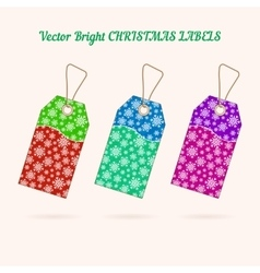 Set of christmas labels with background from vector