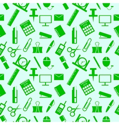 Seamless pattern with elements of office supplies vector