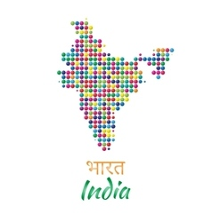 India map black multicolor dotted design vector