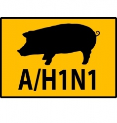H1n1 swine flu sign vector