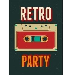 Typographic Retro Party poster design vector image