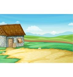 Barn scene vector