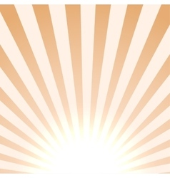 Bright sun background vector image vector image