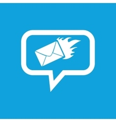 Burning letter message icon vector