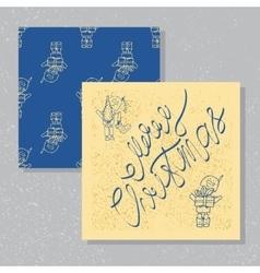 character holiday card vector image