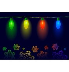 Christmas illuminations vector image