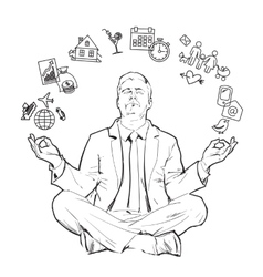Concept of relax and work balance vector
