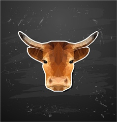 cow abstract triangle polygonal animal origami vector image