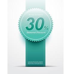 discount sale label vector image