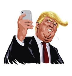 Donald trump and social media portrait vector