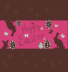 Easter easter card with rabbit vector