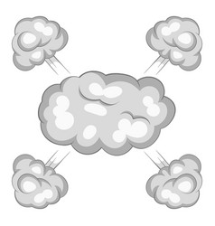 Explosion cloud icon cartoon style vector