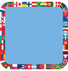 frame made of flag icons vector image vector image