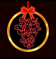 holiday gift card with hand lettering black friday vector image vector image