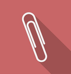Icon of paper clip Flat design vector image vector image