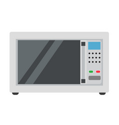 microwave oven icon food cooking kitchen isolated vector image vector image