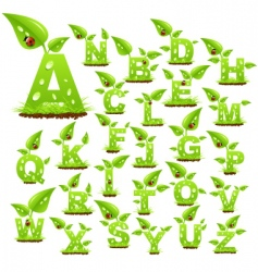 nature letters vector image