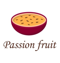Passion fruit vector image