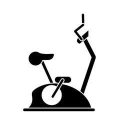 Pictogram bike static machine fitness gym vector