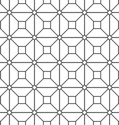 Seamless monochrome grid pattern vector image