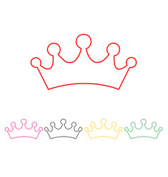 set of princess crowns vector image
