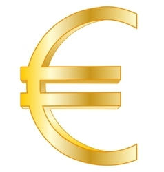 Sign euro golden vector image vector image