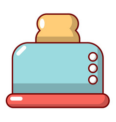 Steal toaster icon cartoon style vector