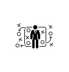 Tactics icon flat design vector