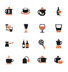 utensils for beverages icon set vector image