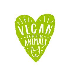 Vegan for animals vector
