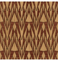 wooden geometric pattern vector image vector image