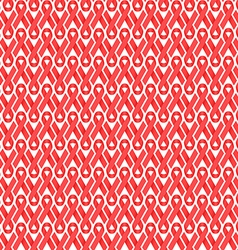 Seamless red ribbon aids hiv awareness background vector