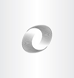 Letter o wave icon vector