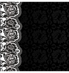 Background with lace dark square vector